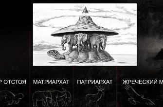 черепаха и три слона